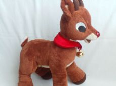 Adorable Rare Light up Red Nose 'Rudolph' Build-a-Bear Plush Reindeer